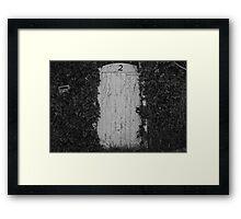 White gate (No. 2) Framed Print