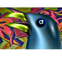 Graffiti Bird Photographic Print