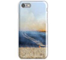 Road Through The Prairie Burn iPhone Case/Skin