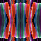 Colourful geometric abstract by walstraasart