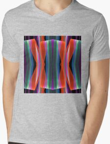 Colourful geometric abstract Mens V-Neck T-Shirt