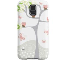 Whimsical Pink Cupcakes Tree Samsung Galaxy Case/Skin