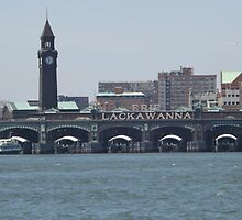 Classic Erie Lackawanna Ferry and Train Terminal, Hoboken, New Jersey by lenspiro