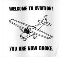Aviation Broke Poster