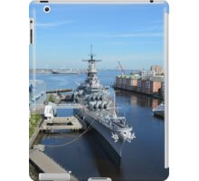 Aerial View of the USS Wisconsin iPad Case/Skin