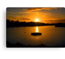 Tranquil Lake Sunset Canvas Print