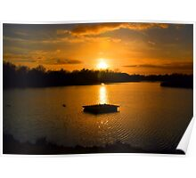Tranquil Lake Sunset Poster