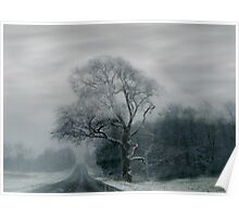 FOGGED TREE Poster