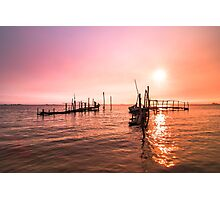 Old dock sunrise Photographic Print