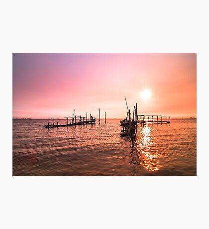 Old dock sunrise Photographic Print