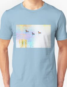 Sunny Abstract Geese Unisex T-Shirt