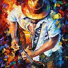 Guitar And Soul — Buy Now Link - www.etsy.com/listing/172821575 by Leonid  Afremov