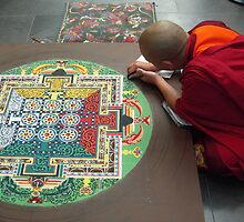 Monk and Mandala by Tama Blough