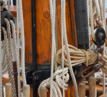 Wooden boat rigging, Hobart, Tasmania Sticker