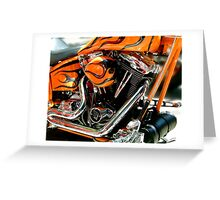 Flames and Chrome Greeting Card