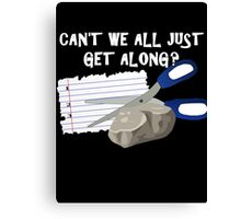 Can't We All Just Get Along? Canvas Print