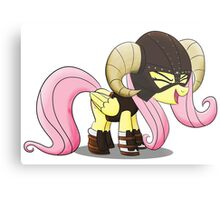 Fluttershy is the D'awwvahkiin (My Little Pony: Friendship is Magic) Metal Print