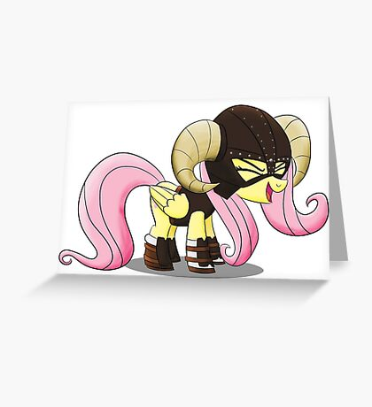 Fluttershy is the D'awwvahkiin (My Little Pony: Friendship is Magic) Greeting Card