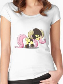 Fluttershy is the D'awwvahkiin (My Little Pony: Friendship is Magic) Women's Fitted Scoop T-Shirt