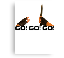 GO! GO! GO! - Counter Strike Knife Tee Canvas Print