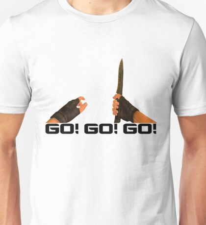 GO! GO! GO! - Counter Strike Knife Tee Unisex T-Shirt