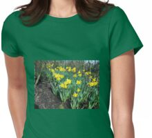 Bed of Daffodils Womens Fitted T-Shirt