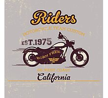 Riders Motorcycle Custom Club Photographic Print