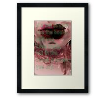 Hurricane Kisses: Love Like Books Framed Print