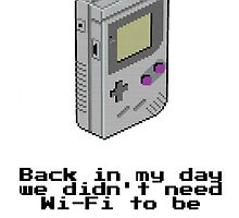 Game Boy Retro Tee by iHux