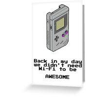 Game Boy Retro Tee Greeting Card