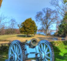 Artillery at Yorktown Battlefield Sticker