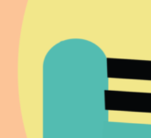 Abstract '80s 06 Sticker