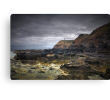 Cape Schanck Rockpools & Lighthouse, Victoria Canvas Print