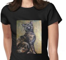 Cindy looking up Womens Fitted T-Shirt