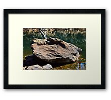 The Stone of Carter's Lake Framed Print