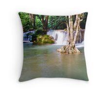 Krengkavia waterfall 2, Thailand Throw Pillow