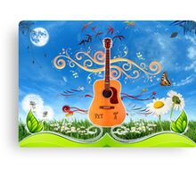 musique Canvas Print