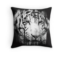 Torn White Tiger Throw Pillow