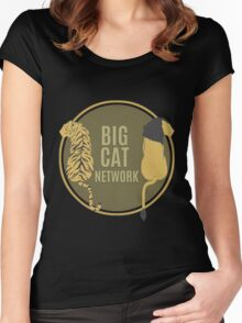 Big Cat Network Logo Women's Fitted Scoop T-Shirt