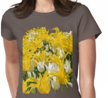 Rays of Spring Tulips Womens Fitted T-Shirt