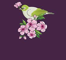 White-eye and sakura blossom - T-shirt Womens Fitted T-Shirt