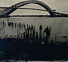 Bayonne Bridge, NJ. Tintype Photograph by ShellyKay