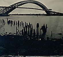Bayonne Bridge, NJ. Tintype Photograph by ShellyKay
