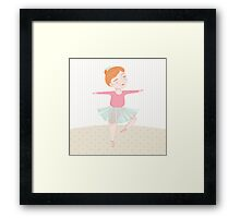 Cute ballerina Framed Print
