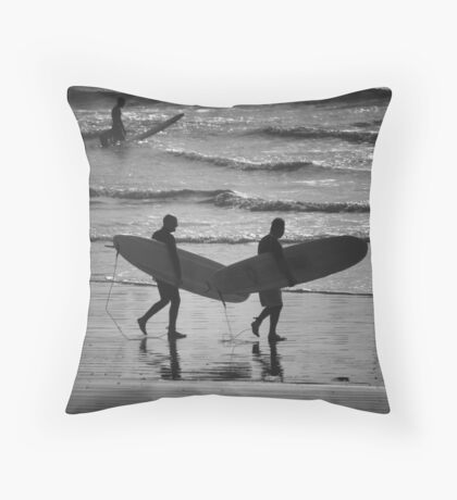 Surfers Throw Pillow
