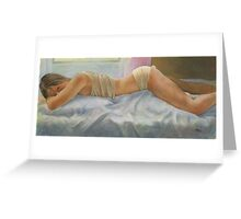 What is he up to? Greeting Card