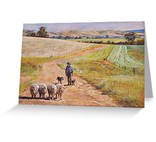 Moving the Rams (Whiteheads Creek) Greeting Card