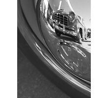 Old Car Hubcap Photographic Print
