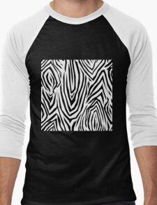 Zebra skin pattern Men's Baseball ¾ T-Shirt