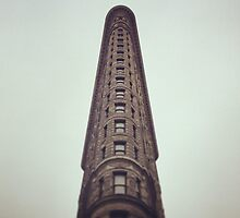 Flatiron Building Sky View by CDinaPhoto